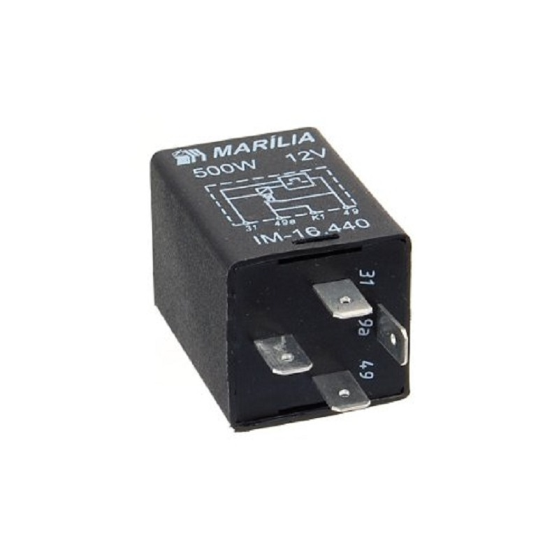 Rele do Pisca 12v 4 Term 500w - Rele de Pisca - Pc - mben