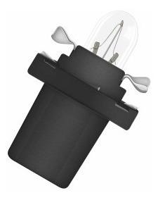 Lampada Base Plastica 12v 1,2w Lampada de Painel - Pc - u